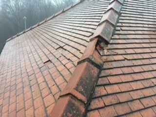 Ridge Tile Replace On Old Rosemary Roof Hyde Roofing