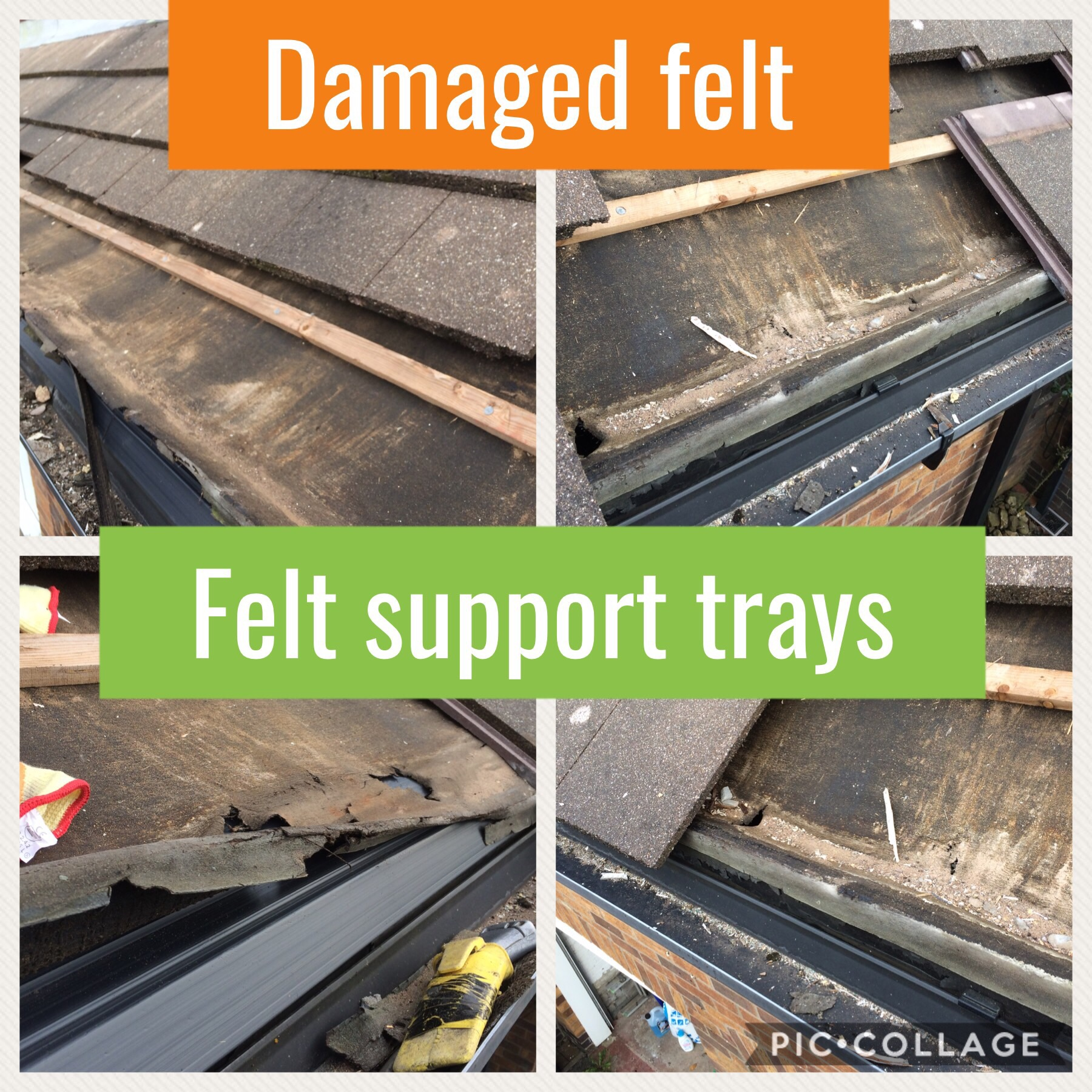 Install Felt Support Trays To Roof Mottram Hyde Roofing